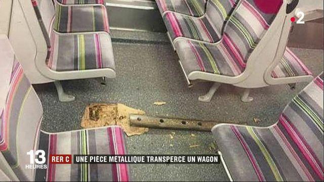RER C : une pièce métallique transperce un wagon