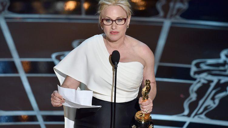 Patricia Arquette, le 22 février 2015, à Hollywood pendant la cérémonie des Oscars. (KEVIN WINTER / GETTY IMAGES NORTH AMERICA)