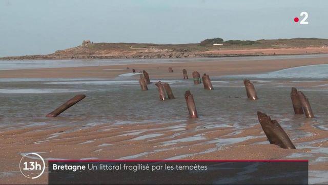 Tempêtes : les côtes bretonnes impactées par les tempêtes de cet hiver