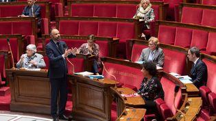 Le Premier ministre, Edouard Philippe, prend la parole à l'Assemblée nationale, le 21 avril 2020. (JACQUES WITT / AFP)