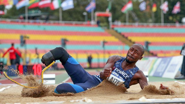 L'athlète Jean-Baptiste Alaize le 25 août 2018, à Berlin. (JENS BETTNER / DPA)