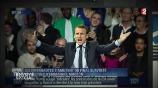 """Macron remet en place les """"ricaneurs"""" etles """"pisse-froid"""" (FRANCE 2 / FRANCETV INFO)"""