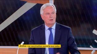 """Michel Barnier était, mardi, l'invité de """"Votre instant politique"""" sur franceinfo (FRANCEINFO)"""