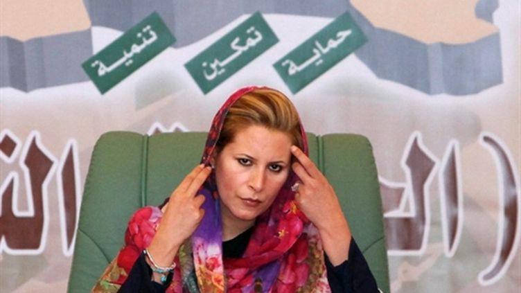 Aïcha Kadhafi, fille du dirigeant libyen, le 6 mars 2010 à Tripoli (AFP / Mahmud Turkia)