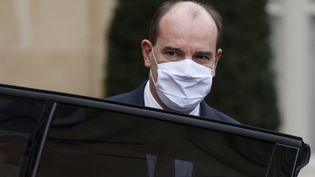 Le Premier ministre, Jean Castex, à l'Elysée le 17 février 2021. (LUDOVIC MARIN / AFP)