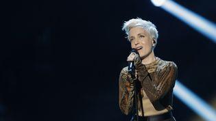 Jeanne Added sur scène lors des Victoires de la Musique, le 8 février 2019 (THOMAS SAMSON / AFP)