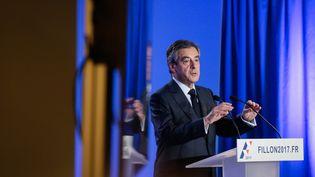 François Fillon donne une conférence de presse, le 6 février 2017, à Paris. (MAXPPP)