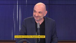 Richard Malka, l'avocat de Charlie Hebdo, était l'invité de franceinfo lundi 30 novembre 2020. (FRANCEINFO / RADIO FRANCE)