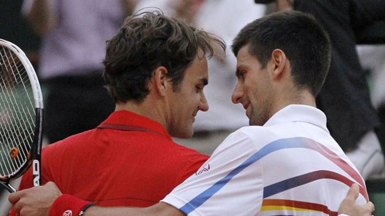 Novak Djokovic et Rafael Nadal lors de la demi-finale 2011 à Roland-Garros