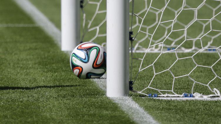 """But ou pas but ? Dès la saison prochaine, les arbitres pourront s'aider de la """"goal line technology"""" pour prendre leur décision. (YASUYOSHI CHIBA / AFP)"""