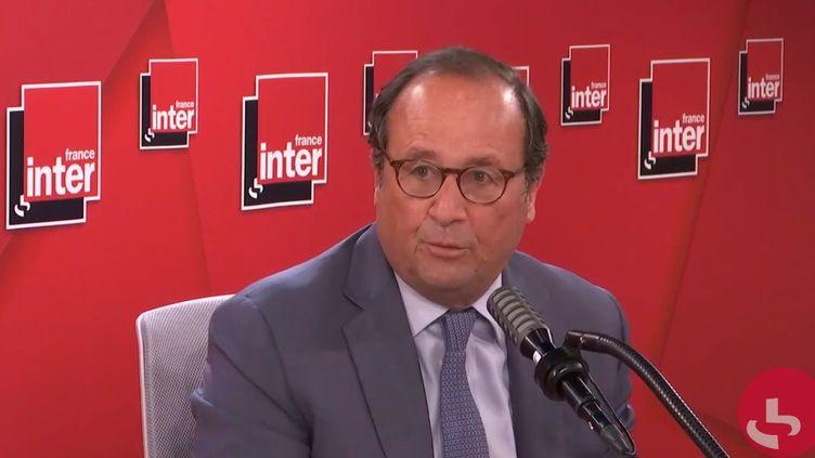 François Hllande, invité de France Inter le 25 mai 2020. (FRANCE INTER / RADIO FRANCE)