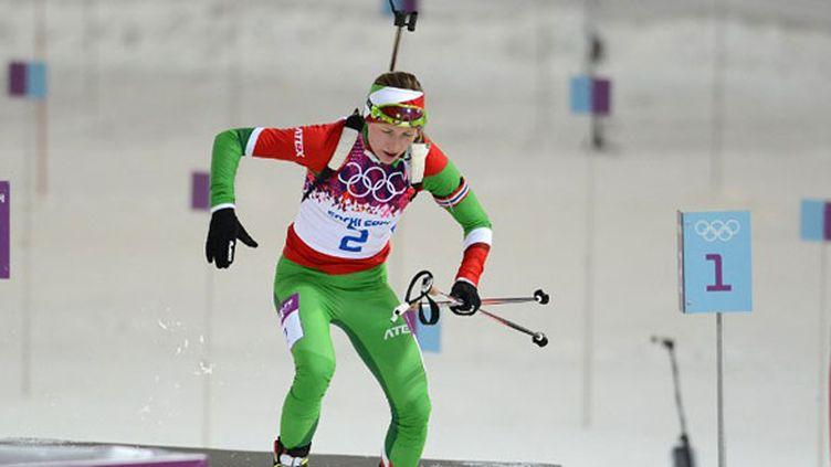La Bélarusse Darya Domracheva, reine du biathlon à Sotchi