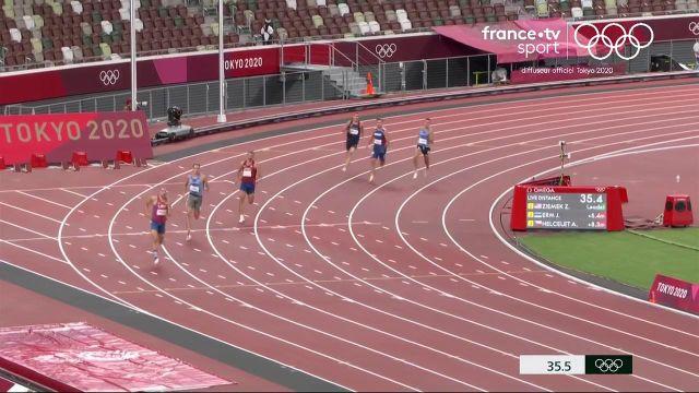 Kevin Mayer en demi-teinte sur 400 m en 50.31 s. Le Français est cinquième du classement après la première journée du décathlon.