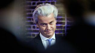 Le leader du parti d'extrême-droite des Pays-Bas, Geert Wilders, en décembre 2015, à La Haye. (MARTIJN BEEKMAN / ANP)