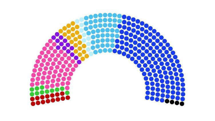Composition estimée du nouveau Sénat. (FRANCEINFO)