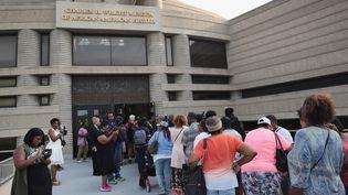 Des fans font la queue devant la dépouille de la Reine de la Soul  (SCOTT OLSON / GETTY IMAGES NORTH AMERICA / AFP)
