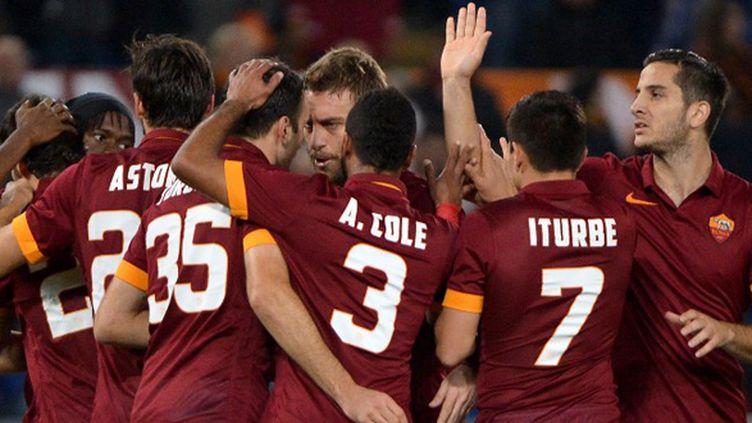 Joie collective pour les joueurs de la Roma