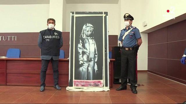 Banksy : son œuvre volée au Bataclan est retrouvée en Italie