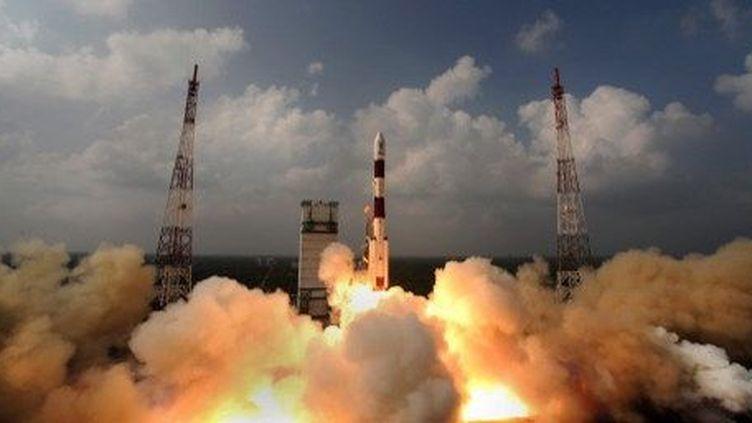 Décollage de la fusée indienne en route pour Mars, le 5 novembre 2013. (AFP/ISRO)
