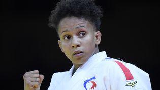 La Française amandine Buchard, lors du Grand Slam de Budapest en octobre 2020. (TAMAS KOVACS / MTI)