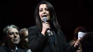 Karima Delli (EELV) sera la candidate commune du Parti socialiste, du Parti communiste français et de La France Insoumise aux régionales dans les Hauts-de-France. (STEPHANE DE SAKUTIN / AFP)