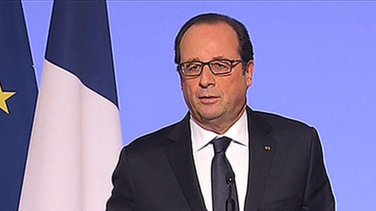 (François Hollande pendant la conférence environnementale © capture d'écran Itélé)