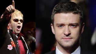 Elton John (juin 2011, Munich) et Justin Timberlake (octobre 2011, Londres)  (AFP)