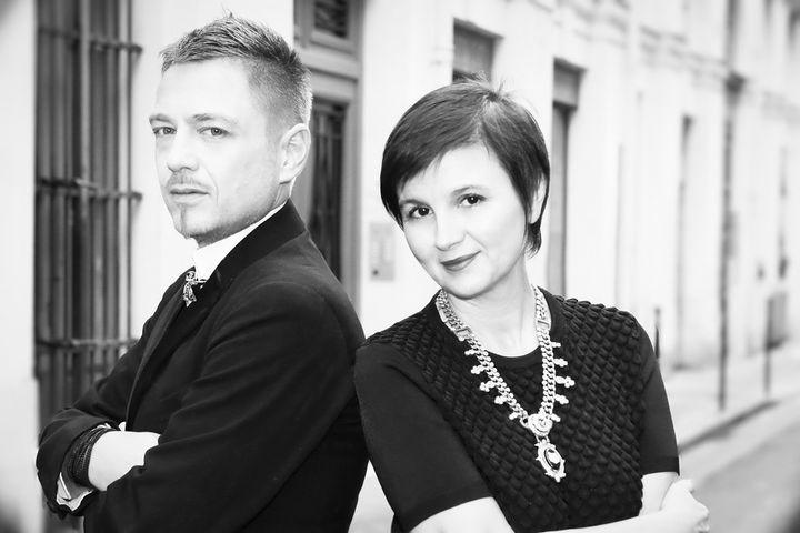 Le duo de créateurs de la maison On Aura Tout Vu, Yassen samouilov et Livia Stoianova (OLESYA OKUNEVA)