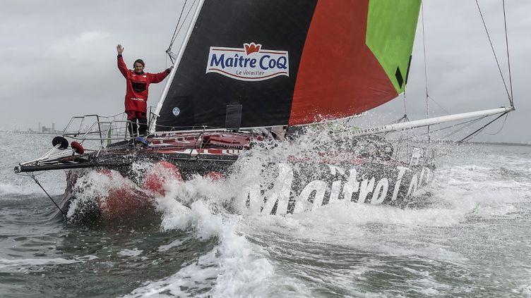 Yannick Bestaven Maitre Coq IV  (SEBASTIEN SALOM-GOMIS / AFP)