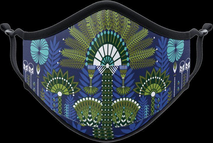 Masque réalisé en collaboration entre l'artiste française Koralie et la marque Vistaprint. (Vistaprint X Koralie)
