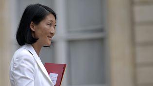 Fleur Pellerin sort de l'Elysée le 27 août 2014  (FRED DUFOUR)