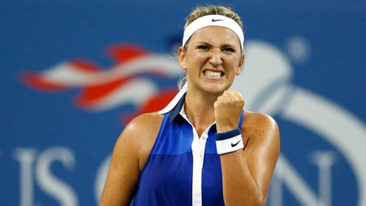 Victoria Azarenka s'est arrachée pour atteindre les quarts de finale de l'US Open 2014 (JULIAN FINNEY / GETTY IMAGES NORTH AMERICA)