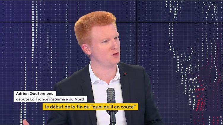 Adrien Quatennens, député LFI du Nord, invité du 8H30 franceinfo, mardi 1er juin 2021. (FRANCEINFO)