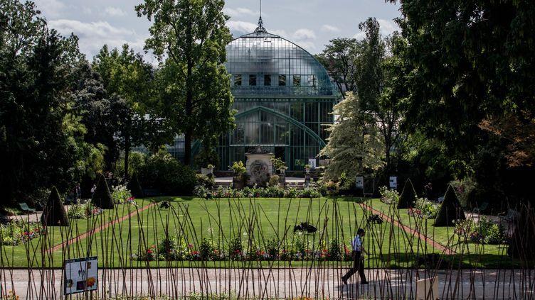 Le GR 75, sentier de grande randonnée faisant le tour de Paris, passe à l'intérieur du jardin des Serres d'Auteuil, dans le 16e arrondissement. (AURELIEN MORISSARD / MAXPPP)
