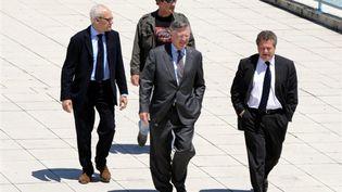 L'arrivée de Thierry Desmarets pour son audition à Toulouse devant le tribunal qui gère l'affaire AZF (© AFP PHOTO / PASCAL PAVANI)
