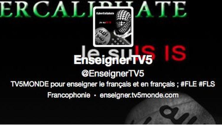 22h50, sur le site de TV5, les premiers signes d'une cyberattaque. (Breaking3zero)