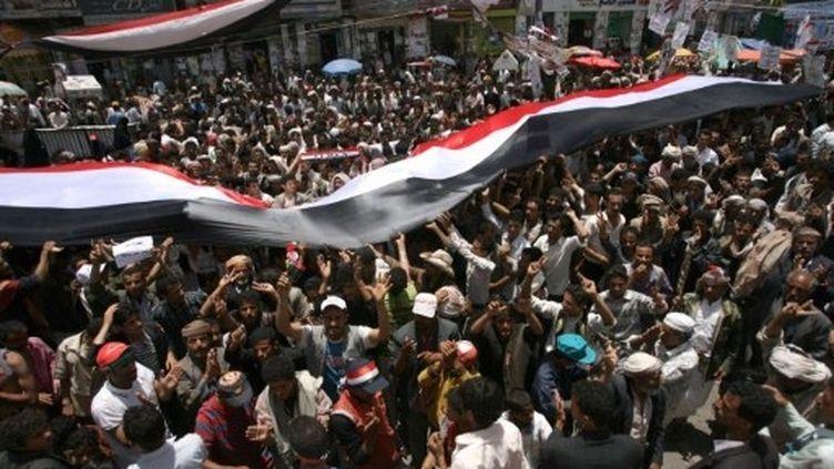 La révolte contre le président yéménite Ali Abdallah Saleh a coûté la vie à 180 personnes, selon un décompte de l'AFP. (AFP - Mohammed Huwais)