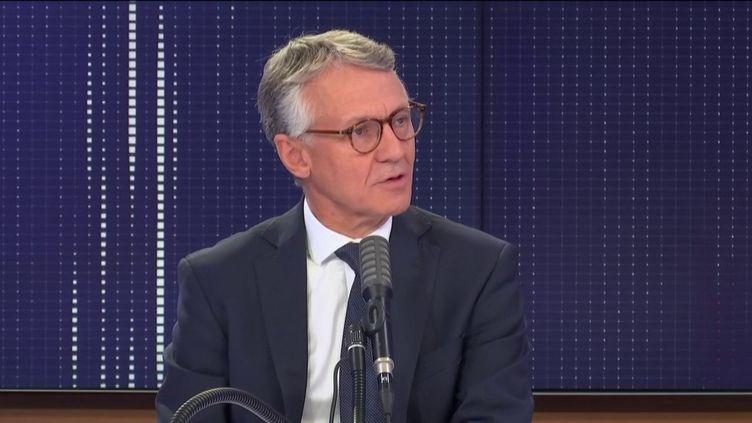 """Jean-François Ricard, procureur de la République antiterroriste était l'invité du """"8h30 franceinfo"""", lundi 31 août 2020. (FRANCEINFO / RADIOFRANCE)"""
