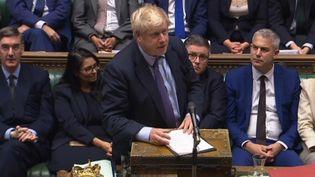 Le Premier ministre britannique Boris Johnson devant le Parlement, mardi 22 octobre 2019. (AFP)