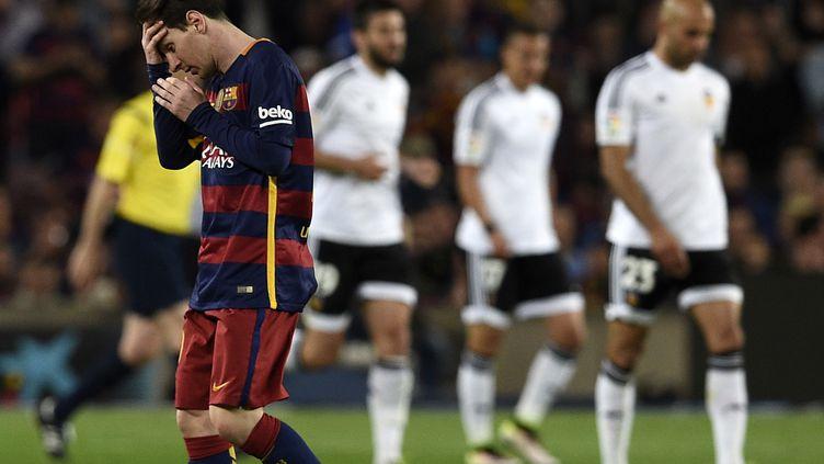 Lionel Messi a inscrit son 500e but en carrière face à Valence (LLUIS GENE / AFP)
