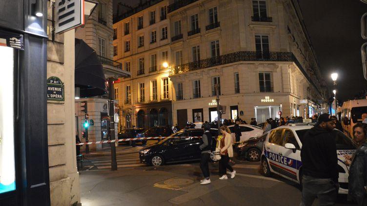 Une attaque au couteau a été perpétrée près de la place de l'Opéra à Paris, dans la soirée du 12 mai 2018. (ALPHACIT NEWIM / CROWDSPARK)