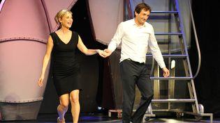 """Pierre Palmade et Michèle Laroque au Casiono de Lille dans le spectacle """"Ils se re-aiment"""" (30 mars 2013)"""
