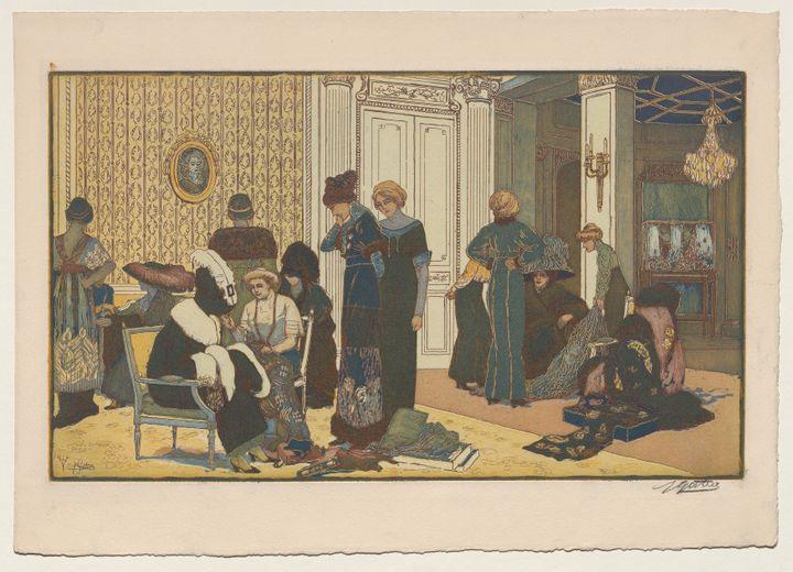 Chez le couturier ou Le Salon de M. Doucet, rue de la Paix 1911 (Pierre Gatier)