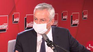 Le ministre de l'Économie, Bruno Le Maire, sur France Inter le 25 novembre 2020. (FRANCEINTER / RADIOFRANCE)