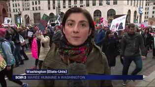 Stéphanie Desjars, envoyée spéciale de France Télévisions à Washington. (FRANCE 3)