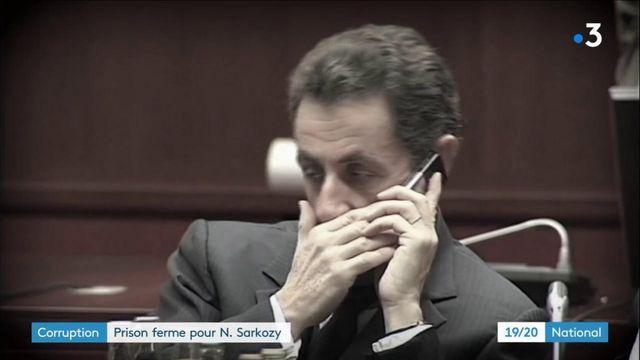 """Affaire des """"écoutes"""" : Nicolas Sarkozy écope de trois ans de prison, dont un an ferme"""