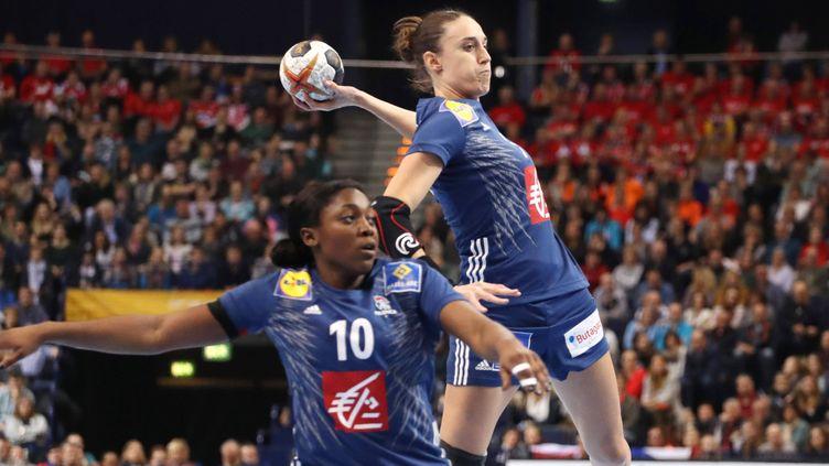 Camille Ayglon sous le maillot de l'équipe de France