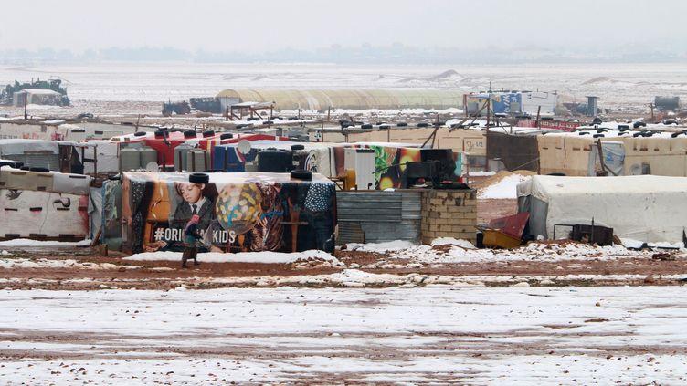 Un camp de réfugiés informel dans la vallée de la Bekka au Liban, le 8 janvier. (STRINGER / AFP)