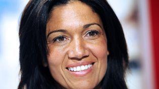 Samia Ghali, maire PS du 8e arrondissement de Marseille, candidate à la primaire socialiste pour les municipales, le 12 septembre 2013 à Marseille (Bouches-du-Rhône). (ANNE-CHRISTINE POUJOULAT / AFP)