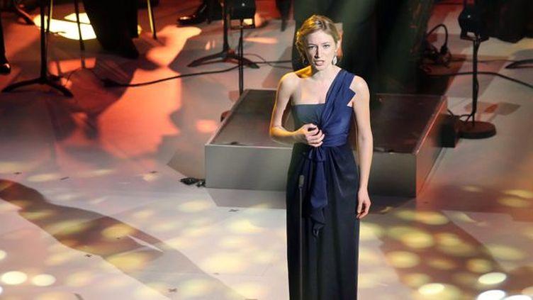 La soprano Sabine Devieilhe, révélation artiste lyrique aux Victoires classiques (25/02/2013)  (Nicolas Tuscat / AFP)
